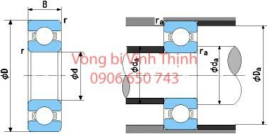 Vòng bi Cầu (bi đầu 6) - Thông số kỹ thuật